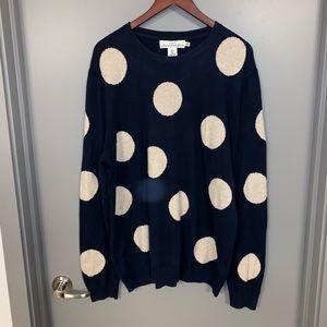 H&M XL Navy Polka Dot Sweater